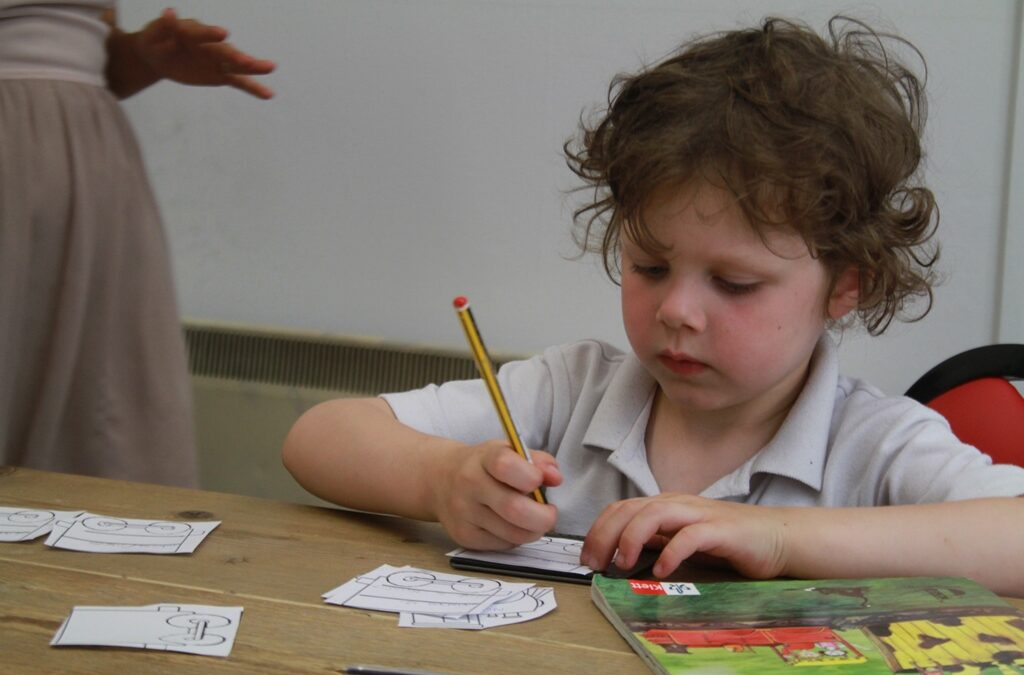 Toddlers learning language
