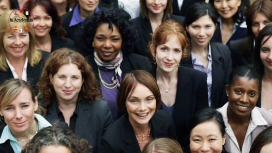 Group of business women learning new languages
